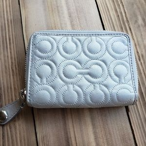 Cute small gray coach wallet